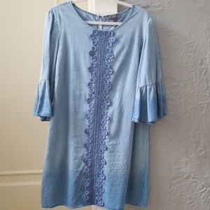 Blue denim look dress by Luxology size 12